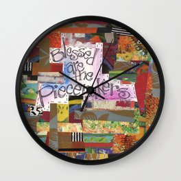 Blessed are the Piecemakers Wall Clock