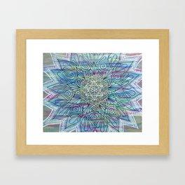 Bohemian Jewel Mandala  Framed Art Print