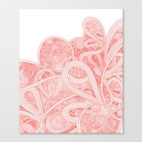 paisley Canvas Prints featuring Paisley by Laurie Mildenhall