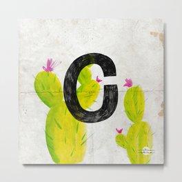 Cactus C Metal Print
