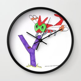 Y is for Yanma Wall Clock