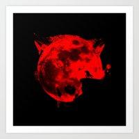 werewolf Art Prints featuring Werewolf by Badamg