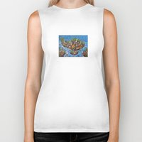 bali Biker Tanks featuring Bali Map Art Painting  by Rothko