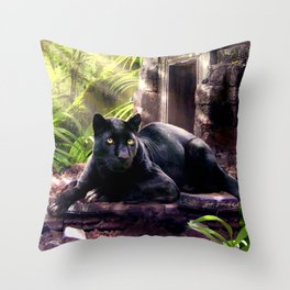 Protector of ancient tempels Throw Pillow