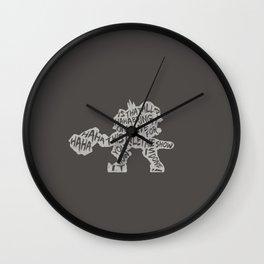 Reinhardt Type illust Wall Clock