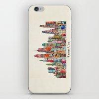 kansas city iPhone & iPod Skins featuring kansas city Missouri skyline by bri.buckley