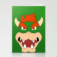 mario bros Stationery Cards featuring Bowser Super Mario Bros. by JAGraphic