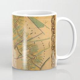 Map of Mississippi River 1858 Coffee Mug