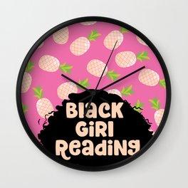 Black Girl Reading Wall Clock