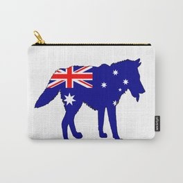 Australian Flag - Wolf Carry-All Pouch