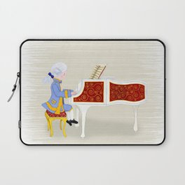 Young Mozart Playing the Piano: Practice Maintains Perfect Laptop Sleeve