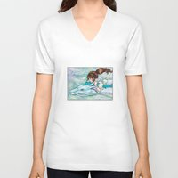 spirited away V-neck T-shirts featuring Spirited Away by Kimberly Castello