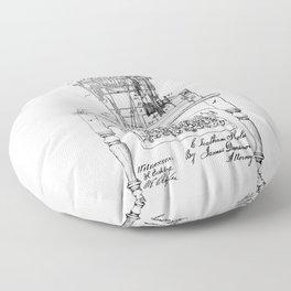 QWERTY Typewriter: Christopher Latham Sholes QWERTY Typewriter Patent Floor Pillow