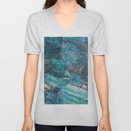 Siena turchese - blue marble Unisex V-Neck