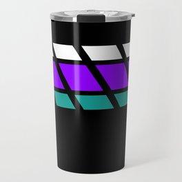 Team Colors 4..Aqua, purple Travel Mug