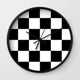 Large Checkered - White and Black Wall Clock