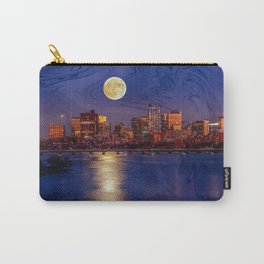Moon light night, Boston MA Carry-All Pouch