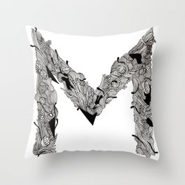 M M  Throw Pillow