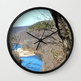 Clmbing Up Sparrowhawk Mountain above the Illinois River, No. 2 of 8 Wall Clock