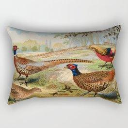 Vintage Pheasants Rectangular Pillow