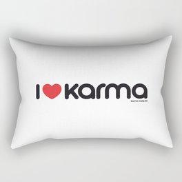I Love Karma Rectangular Pillow