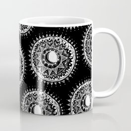 Black Moon Mandala Coffee Mug