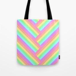 Woven Rainbow Tote Bag