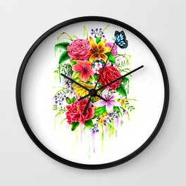 Flowers on my mind Wall Clock