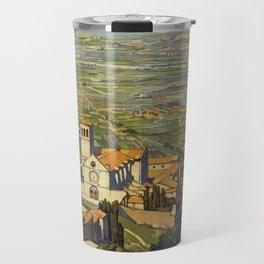 Assisi vintage poster Travel Mug