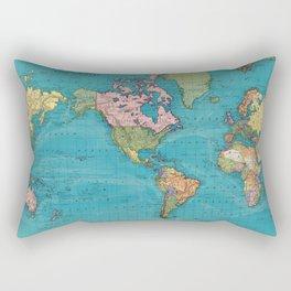 Vintage Map of The World (1897) Rectangular Pillow