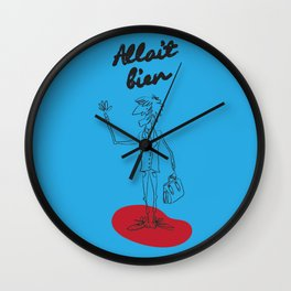 "The Ink - ""Bien"" Wall Clock"