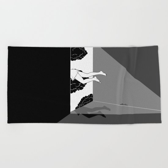 The edge of the world Beach Towel