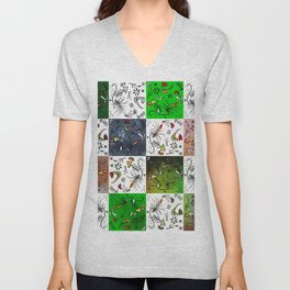 Odd squares Unisex V-Neck