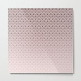 Pink smoky geometric pattern Metal Print