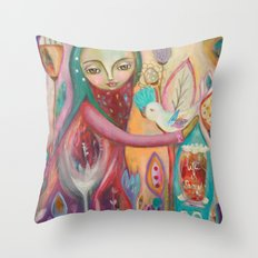 Life is sacred - inspirational art Throw Pillow