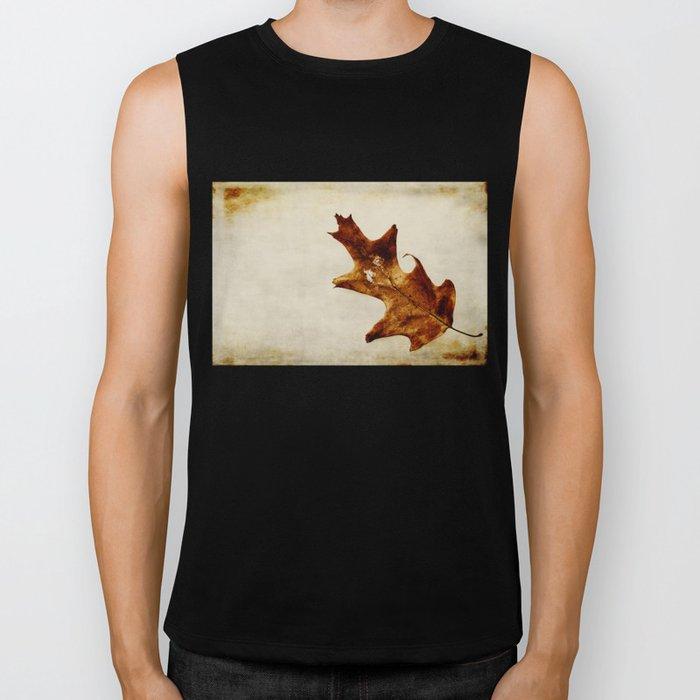 brown leaf Biker Tank