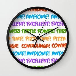 Turtle Power! Wall Clock