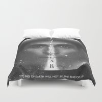 interstellar Duvet Covers featuring Interstellar  by Laura Racero