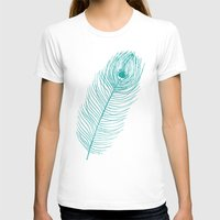 peacock feather T-shirts featuring Peacock Feather by AleDan