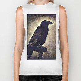 Black Raven of Peace Biker Tank