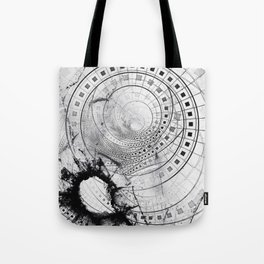 Split, Blasted, and Shattered Glass Film Strips Tote Bag