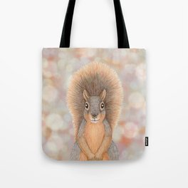 fox squirrel woodland animal portrait Tote Bag