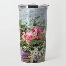 Floral Basket Travel Mug