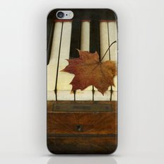 Maple Leaf and Piano iPhone & iPod Skin