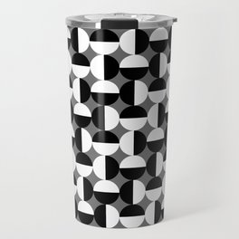 Geometric Circles Grey/Gray Travel Mug