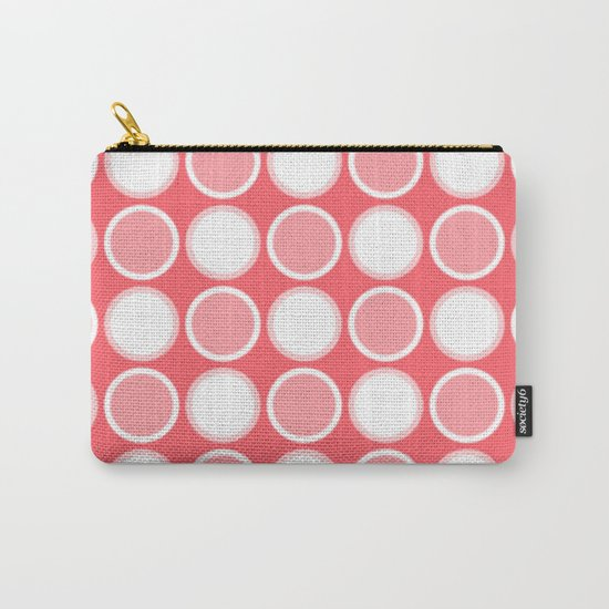Circle Coral Carry-All Pouch
