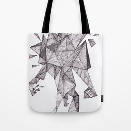 Robot trapped in triangles Tote Bag
