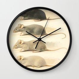 Vintage Mouse Illustration Wall Clock