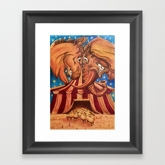 American Politics Framed Art Print