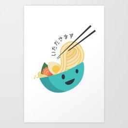 Yummy Ramen Art Print
